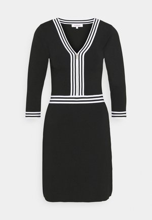 Shift dress - noir/off white