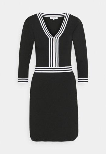 Robe fourreau - noir/off white