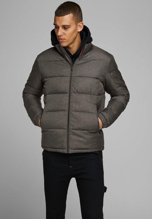 Winter jacket - grey melange