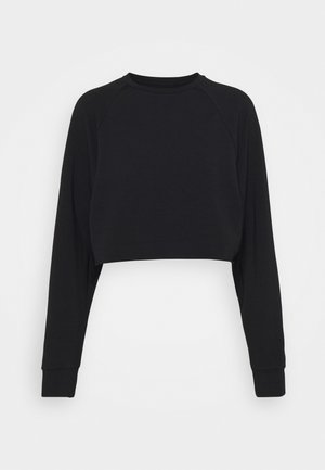 Cropped lightweight - Sweater - black