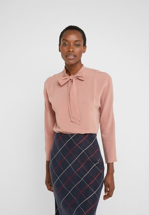 TIE NECK TOP - Blouse - pink