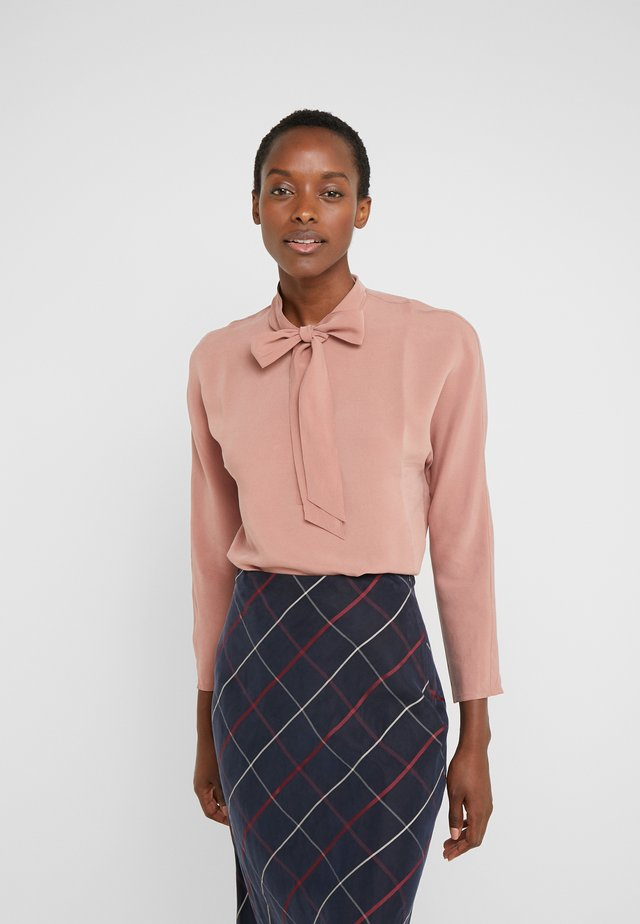 TIE NECK TOP - Pusero - pink