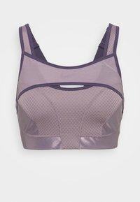 ALPHA ULTRABREATHE BRA - High support sports bra - purple smoke/dark raisin