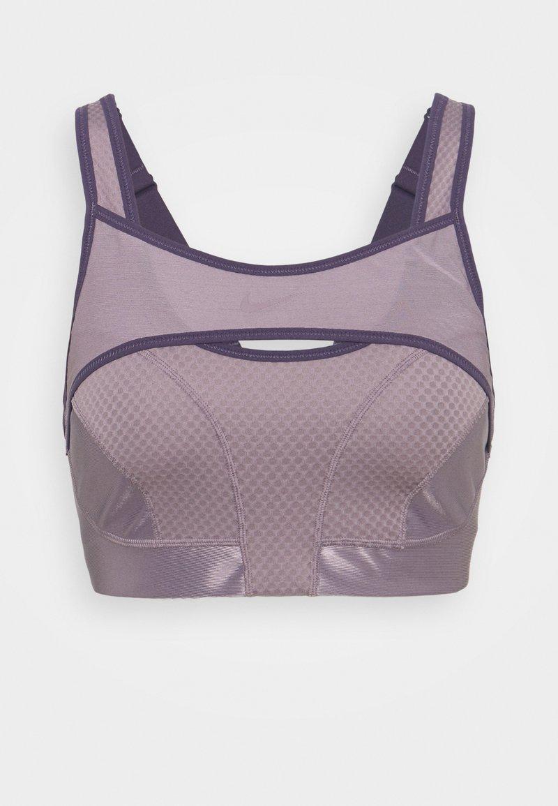 Nike Performance - ALPHA BRA - High support sports bra - purple smoke/dark raisin