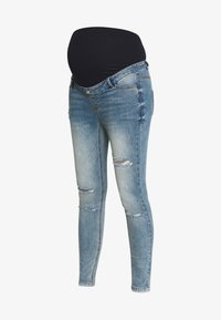 Missguided Maternity - SINNER OVER BUMP AUTHENTIC RIPPED - Jeans Skinny Fit - blue - 3