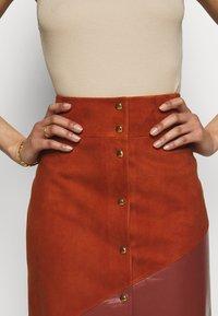 Bally - MIXED SKIRT - Maxi skirt - spice - 5