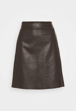 TIRO - Mini skirt - dunkelbraun