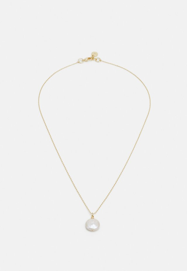 SHAPE PEARL PENDANT NECK - Necklace - gold-coloured/white