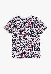 Fila - KIDS ZARA TEE - Camiseta estampada - white - 1