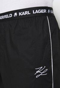 KARL LAGERFELD - SINGLE PANTS - Pyžamový spodní díl - black - 4