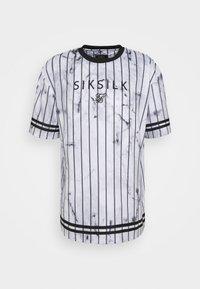 SIKSILK - MARBLE ESSENTIAL TEE - Triko spotiskem - white/grey - 3