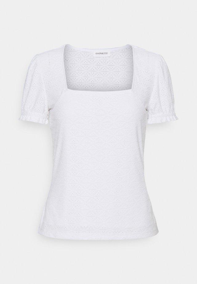 Stickerei Print T-shirt - Triko spotiskem - white