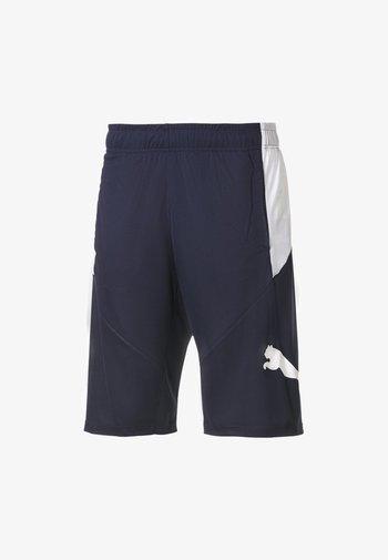 Sports shorts - peacoat-puma white