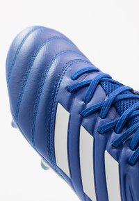 adidas Performance - COPA 20.3 FOOTBALL BOOTS FIRM GROUND - Voetbalschoenen met kunststof noppen - royal blue/silver metallic - 5