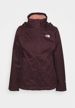 2-IN-1 - Hardshell jacket - bordeaux/salmon