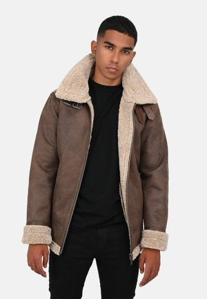 CENTURING - Winter jacket - mottled brown