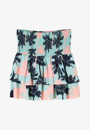 A-line skirt - aqua aop