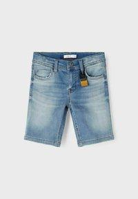 Name it - SLIM FIT - Denim shorts - medium blue denim - 3