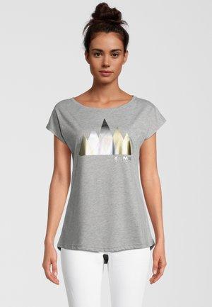 Print T-shirt - grau