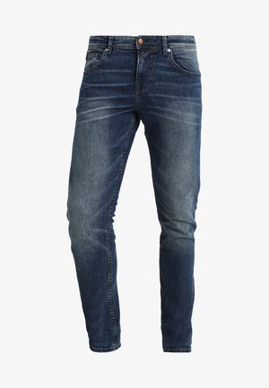 SLIM AEDAN - Džíny Slim Fit - mid stone wash denim