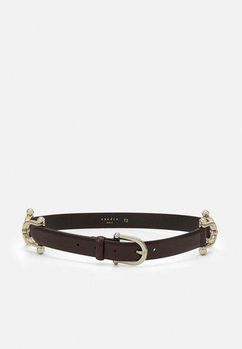 SMOOTH WAIST BELT - Waist belt - marron