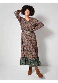 Angel of Style - Day dress - dunkelgrün,altrosa - 0