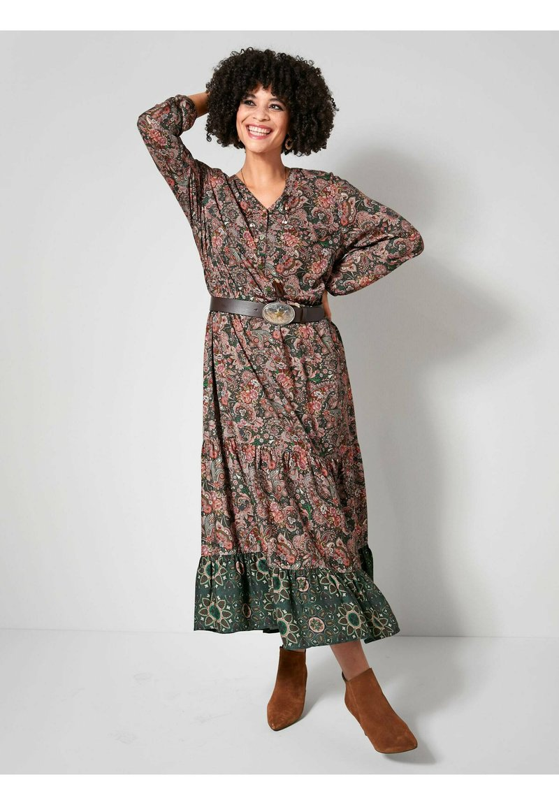 Angel of Style - Day dress - dunkelgrün,altrosa