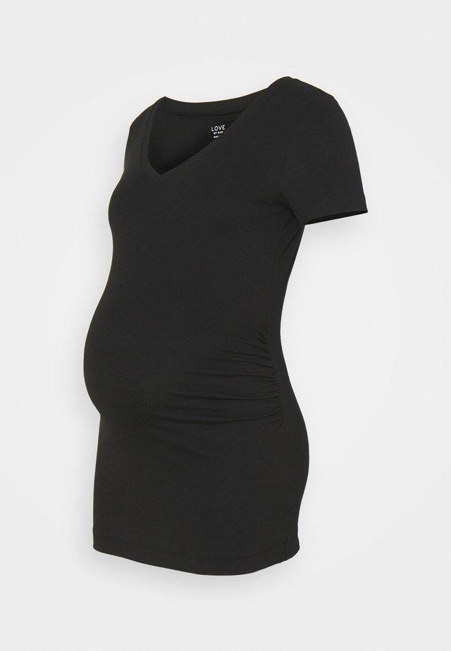 PURE VEE - T-shirt basic - true black
