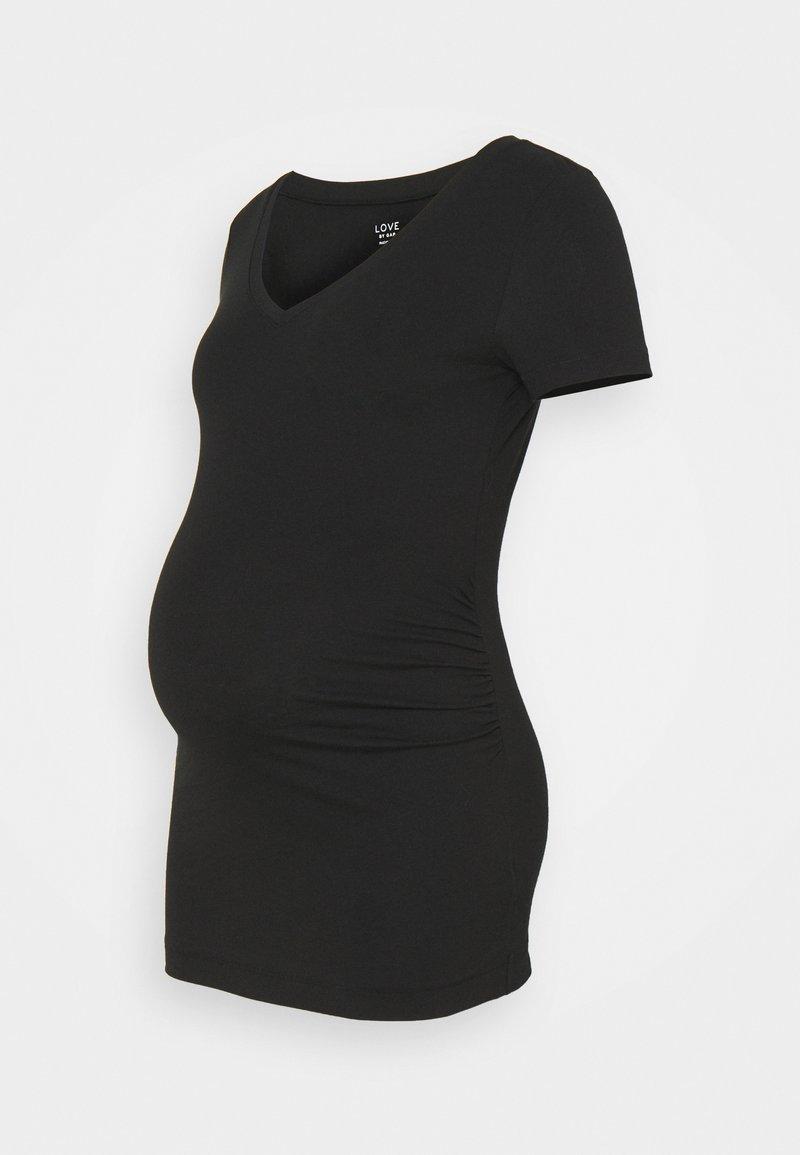 GAP Maternity - PURE VEE - T-shirt basic - true black