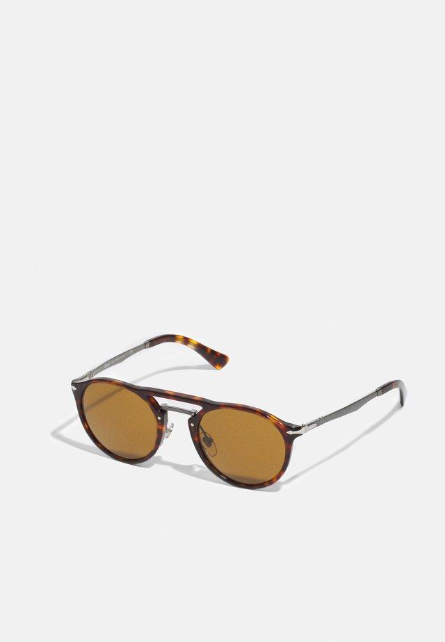 UNISEX - Sunglasses - havana/gunmetal