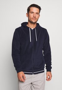 Lacoste - veste en sweat zippée - navy blue - 0
