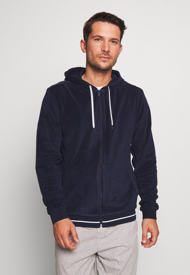 Lacoste - veste en sweat zippée - navy blue