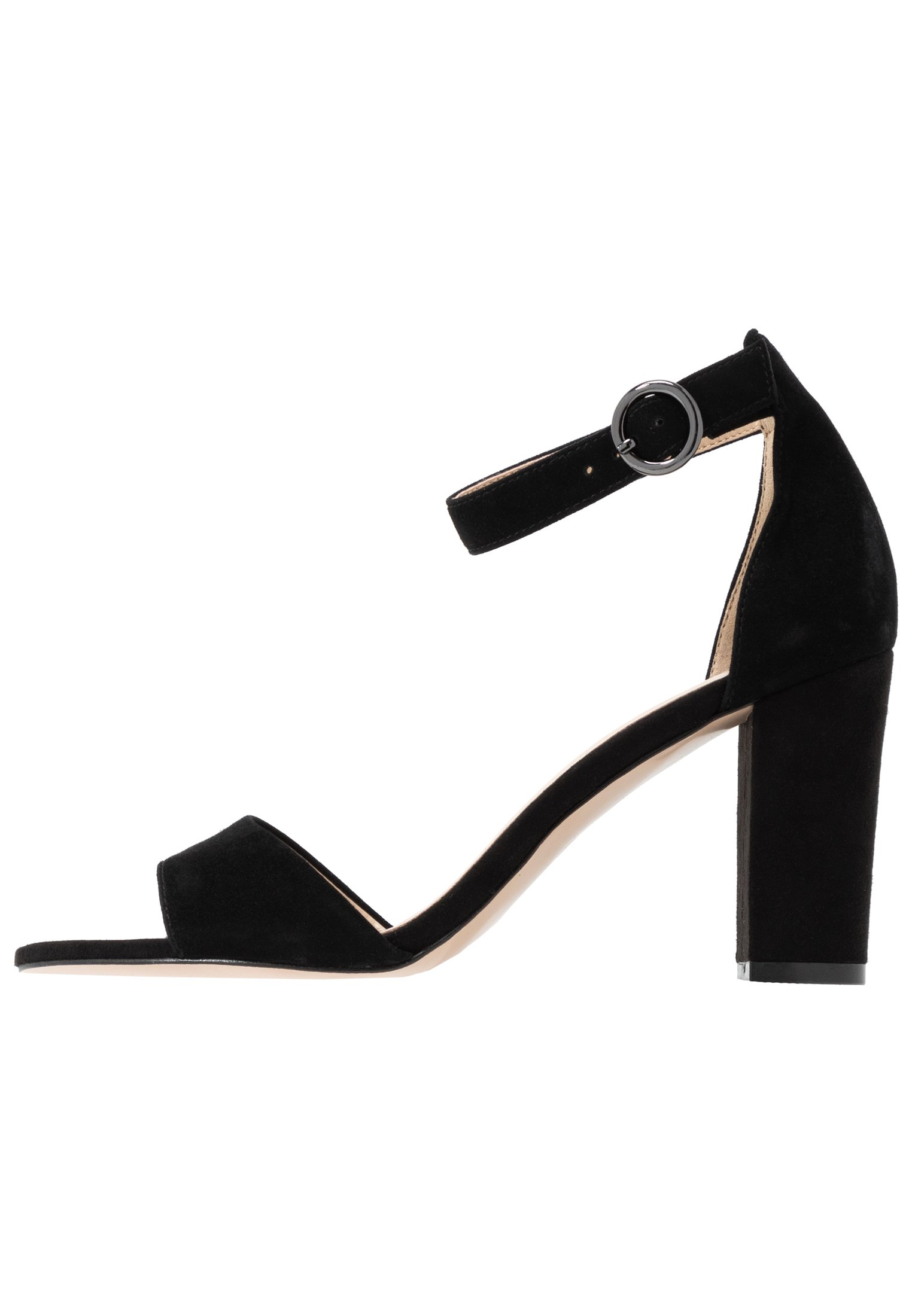 LEATHER HEELED SANDALS Sandaletter black