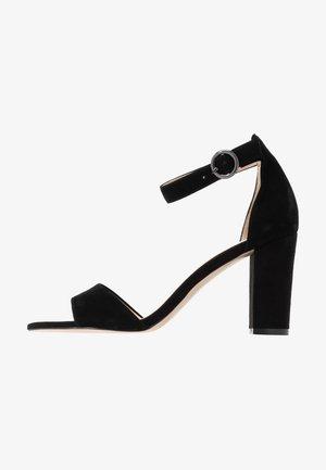 LEATHER HEELED SANDALS - Sandaler med høye hæler - black