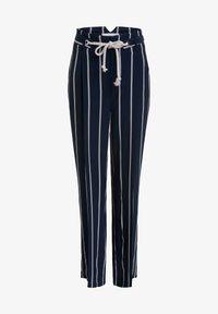 Oui - Trousers - dark blue white - 4