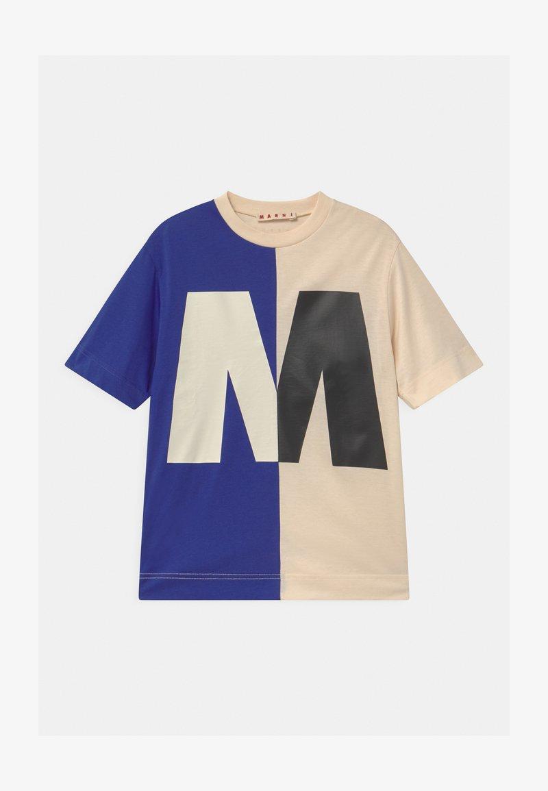 Marni - MAGLIETTA UNISEX - Print T-shirt - blue