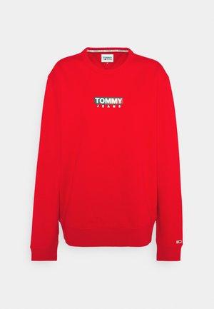 ENTRY GRAPHIC CREW - Sweatshirt - deep crimson