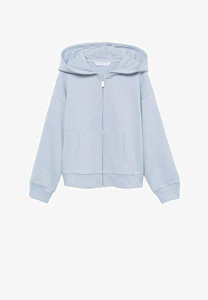 Sweater met rits - hemelsblauw