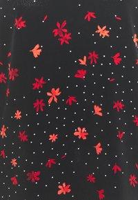 Wallis - STAR FLOWER TWIST NECK - Blouse - black - 2