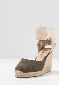 Castañer - CARINA  - High heeled sandals - verde musgo - 4