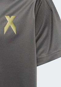 adidas Performance - FOOTBALL INSPIRED X AEROREADY JERSEY - Print T-shirt - grey - 7
