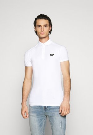 PLATE ON FRONT - Polo shirt - white