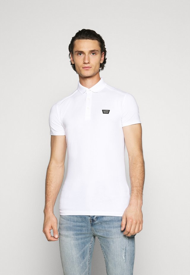 PLATE ON FRONT - Polo - white