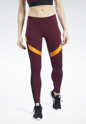 WORKOUT READY MESH TIGHTS - Trikoot - maroon