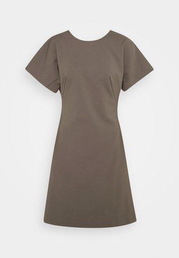 AURA - Jersey dress - mud