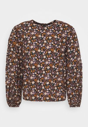 PRINTED FLORAL WITH VOLUMINOUS SLEEVES - Pusero - combo
