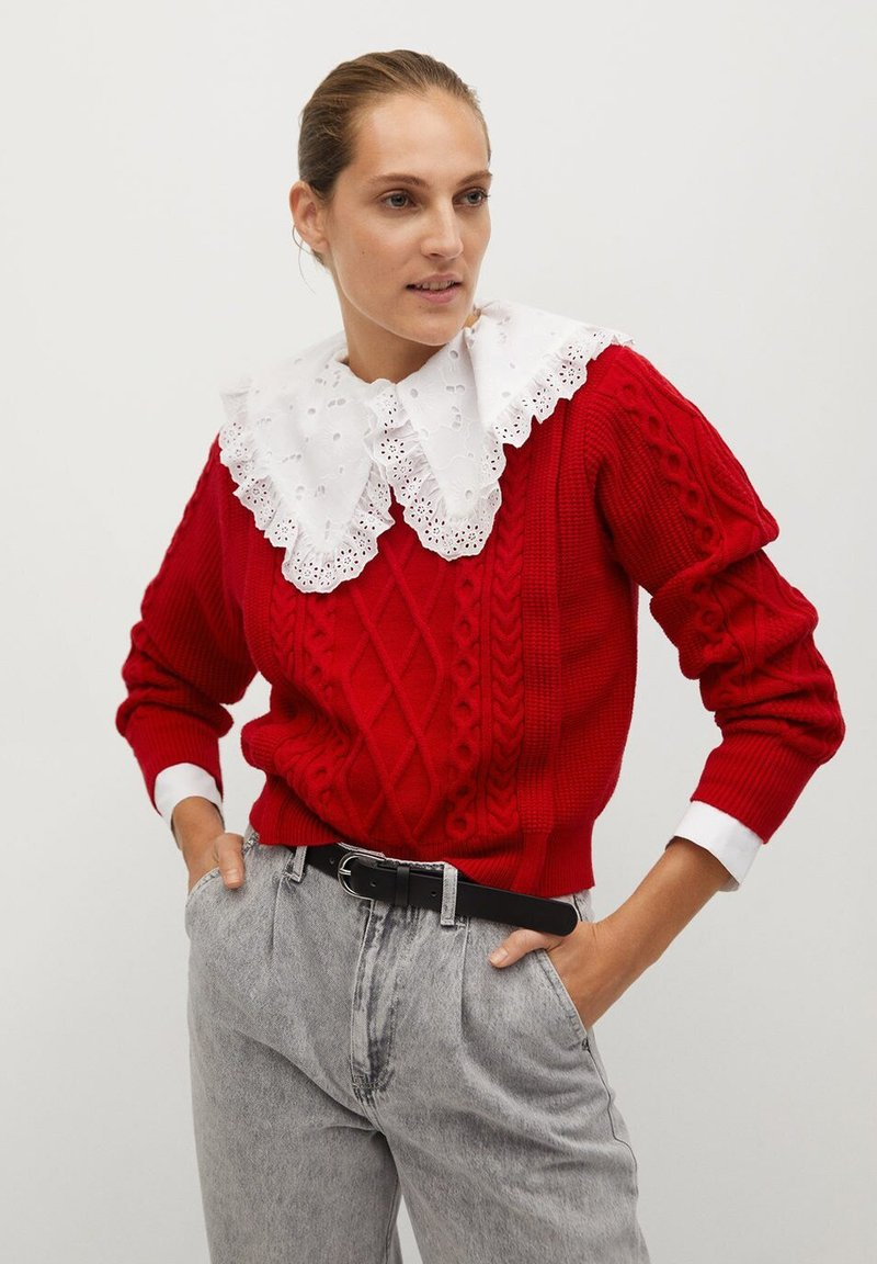 Mango - OVERALL - Jumper - rouge
