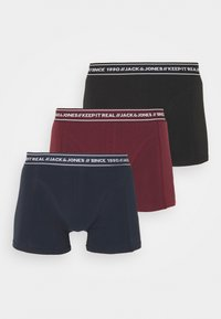 JACTEXT TRUNKS 3 PACK - Pants - black/navy blazer/port royale