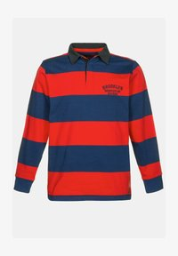 JP1880 - JP 1880 RUGBY, GEWEVEN KRAAG, STREPEN - Polo shirt - lichtrood - 1