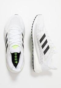 adidas Performance - SOLAR GLIDE BOOST SHOES - Zapatillas de running neutras - footwear white/core black/signal green - 1